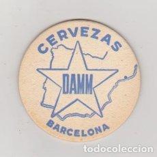 Coleccionismo de cervezas: POSA VASOS. (10 CMS) CERVEZAS DAMM BARCELONA. AL DORSO: DISTRIBUIDOR EN CARAVACA HIJO DE J.M. CA-. Lote 98058971