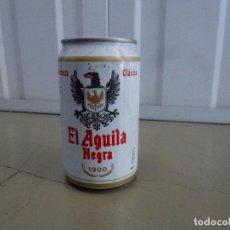 Coleccionismo de cervezas: LATA CERVEZA EL ÁGUILA NEGRA 1900 - LLENA. Lote 98543338