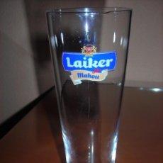 Coleccionismo de cervezas: VASO DE CERVEZA LAIKER - MAHOU BEER GLASS. Lote 98164211