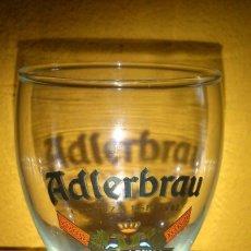 Coleccionismo de cervezas: VASO DE CERVEZA MARCA ADLERBRAU EL AGUILA BEER GLASS. Lote 98164423