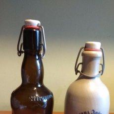 Coleccionismo de cervezas: LOTE 2 ANTIGUAS BOTELLAS DE EXPORTACIÓN. EXCELENTE ESTADO. OPORTUNIDAD. Lote 98497819