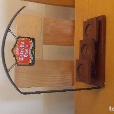 Coleccionismo de cervezas: EXPOSITOR DE BOTELLAS ESTRELLA DAMM. Lote 98528707