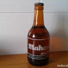 Coleccionismo de cervezas: MAHOU BOTELLA SERIGRAFIADA DE 33 CL. ELABORADA EN ESPAÑA . Lote 99733063
