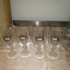 Coleccionismo de cervezas: 4 COPAS CERVEZA DAB DORTMUNDER. Lote 99896326