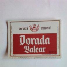 Coleccionismo de cervezas: ETIQUETA CERVEZA DORADA BALEAR. Lote 109296792