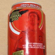 Coleccionismo de cervezas: LATA DE CERVEZA VACIA CRUZCAMPO EDICIÓN ESPECIAL MUNDIAL SUDÁFRICA 2010 - XABI HERNANDEZ - FUTBOL. Lote 99969823