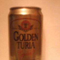 Coleccionismo de cervezas: LATA CERVEZA GOLDEN TURIA ESPAÑA. Lote 81224548