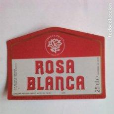 Coleccionismo de cervezas: ETIQUETA CERVEZA ROSA BLANCA. Lote 109296588