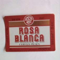 Coleccionismo de cervezas: ETIQUETA CERVEZA ROSA BLANCA. Lote 109296668