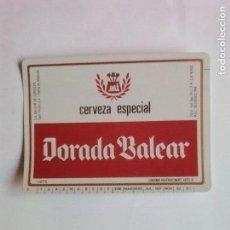 Coleccionismo de cervezas: ETIQUETA CERVEZA DORADA BALEAR. Lote 109296856