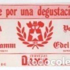 Coleccionismo de cervezas: VALE DEGUSTACION CERVEZA DAMM DIFICIL. Lote 269572908