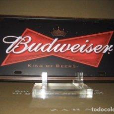 Coleccionismo de cervezas: CHAPA METAL PUBLICIDAD CERVEZA BUDWEISER. CERVEZAS. Lote 101768479
