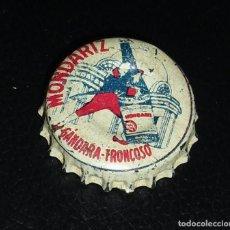 Coleccionismo de cervezas: TAPÓN / CHAPA CORONA DE AGUA DE MONDARIZ ,BLANCA , LE FALTA EL CORCHO.FABRICANTE S.I.A.. Lote 102393587