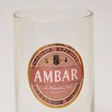 Coleccionismo de cervezas: VASO CERVEZA AMBAR 2 LA ZARAGOZANA VINTAGE . Lote 103149935
