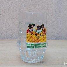 Coleccionismo de cervezas: ANTIGUA JARRA DE CRISTAL CERVEZA WICKULER. Lote 103348995