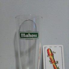 Coleccionismo de cervezas: VASO TUBO CERVEZA MAHOU. COLOR VERDE.. Lote 104092052