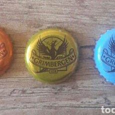 Coleccionismo de cervezas: LOTE 3 CHAPAS CERVEZA GRIMBERGEN. Lote 104495412