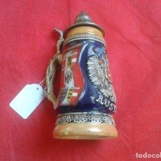 Coleccionismo de cervezas: JARRA DE CERVEZA -- CERÁMICA -- TAPA METAL -- AUSTRIA -- EDICIÓN LIMITADA -- 19 X 8 CM. Lote 104878183