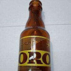 Coleccionismo de cervezas: BOTELLA ANTIGUA CERVEZA ORO 20 CL. Lote 104896442
