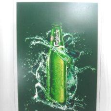 Coleccionismo de cervezas: CARTEL LUMINOSO CERVEZA CARLSBERG - 58 CMS . METACRILATO - PUBLICIDAD - FUNCIONANDO LUZ INTERMITENTE. Lote 105010955