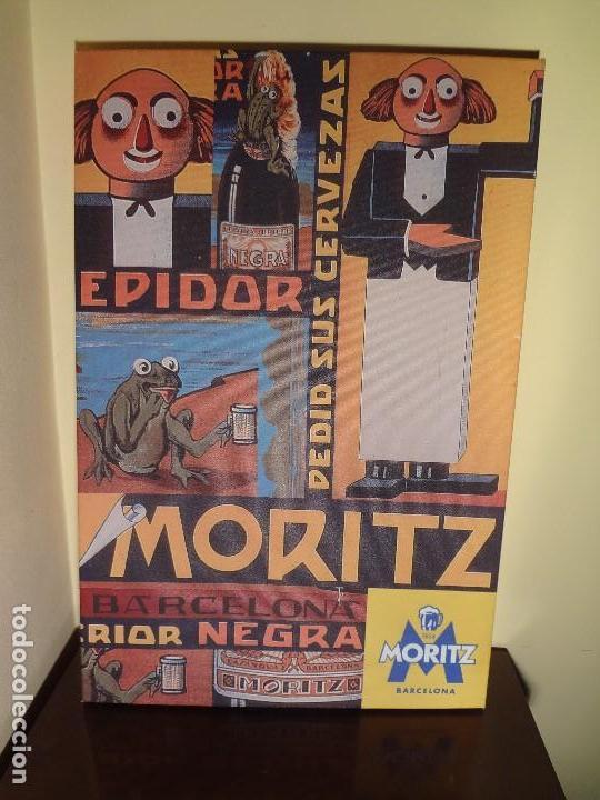 Coleccionismo de cervezas: Cuadro lienzo cerveza moritz - Foto 6 - 137820900