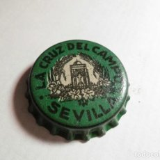 Coleccionismo de cervezas: MAGNIFICO ANTIGUO TAPON CORONA CERVEZA LA CRUZ DEL CAMPO SEVILLA,TAPON CORCHO,SALIDA 1 EURO. Lote 106018295