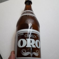 Coleccionismo de cervezas - Botella Antigua Cerveza ORO Litro escasa - 106818680