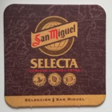 Coleccionismo de cervezas: POSAVASOS SAN MIGUEL SELECTA.. Lote 106904640