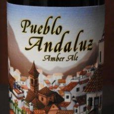 Coleccionismo de cervezas: BOTELLA VACIA DE CERVEZA ARTESANAL PUEBLO ANDALUZ AMBER ALE. Lote 107290287