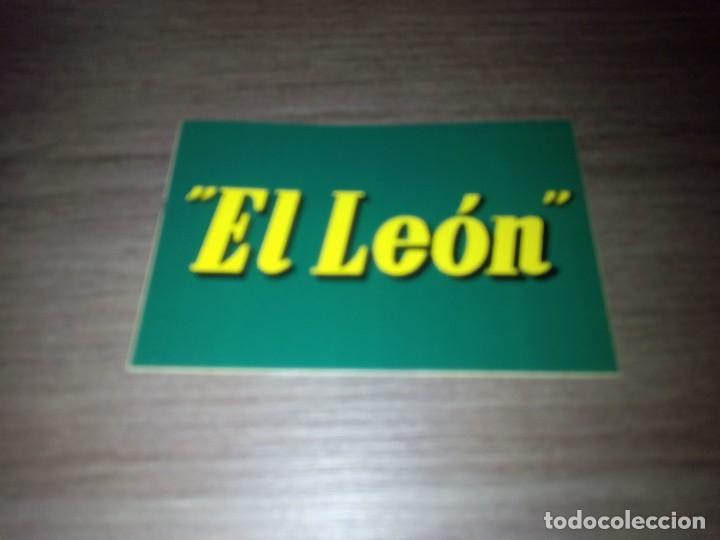 PEGATINA CERVEZAS EL LEON SAN SEBASTIAN (Coleccionismo - Botellas y Bebidas - Cerveza )
