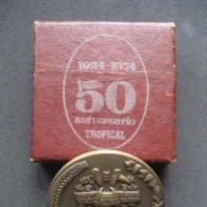 Coleccionismo de cervezas: MEDALLA BRONCE 50 ANIVERSARIO CERVEZAS TROPICAL 1924 - 1974. CERVEZA. Lote 107564659