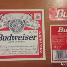 Coleccionismo de cervezas: ETIQUETAS DE CERVEZA BUDWEISER, BUD. USA. Lote 107595547