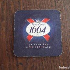 Coleccionismo de cervezas: POSAVASOS DE CERVEZA KRONENBOURG 1664. Lote 107866623