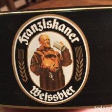 Coleccionismo de cervezas: BANDEJA PLÁSTICO PUBLICIDAD FRANZISKANER WEISSBIER.. Lote 108016647