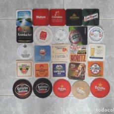 Coleccionismo de cervezas: LOTE DE 25 POSAVASOS DE CERVEZA. Lote 109310207