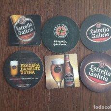 Coleccionismo de cervezas: LOTE DE 6 POSAVASOS DE CERVEZA ESTRELLA GALICIA. Lote 109311003