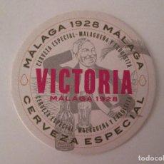 Coleccionismo de cervezas: POSAVASOS CERVEZA VICTORIA - MALAGA - 9,5 CM. Lote 113236922
