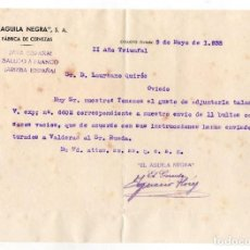 Coleccionismo de cervezas: CERVEZA AGUILA NEGRA. COLLOTO. ASTURIAS. NUEVE DOCUMENTOS. EPOCA GUERRA CIVIL. FERROCARRIL. 1938. Lote 110244419