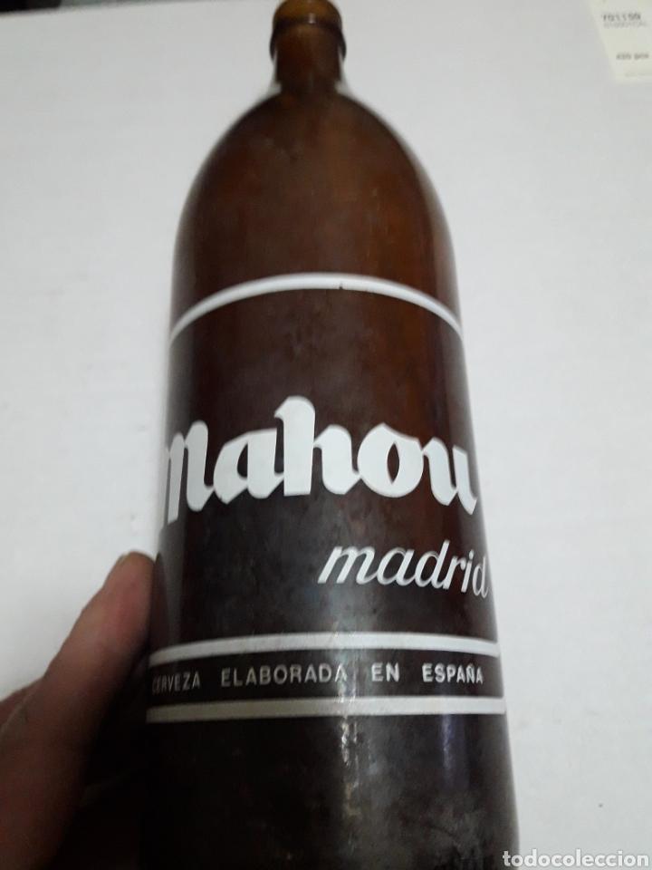 BOTELLA ANTIGUA CERVEZA MAHOU 1 LITRO (Coleccionismo - Botellas y Bebidas - Cerveza )