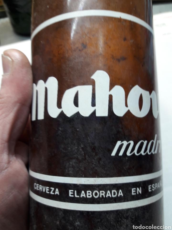 Coleccionismo de cervezas: Botella Antigua Cerveza Mahou 1 litro - Foto 5 - 111431864