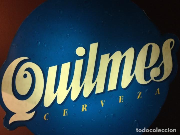 Coleccionismo de cervezas: Cartel luminoso años 80 publicidad cerveza Argentina QUILMES - Foto 2 - 111710247