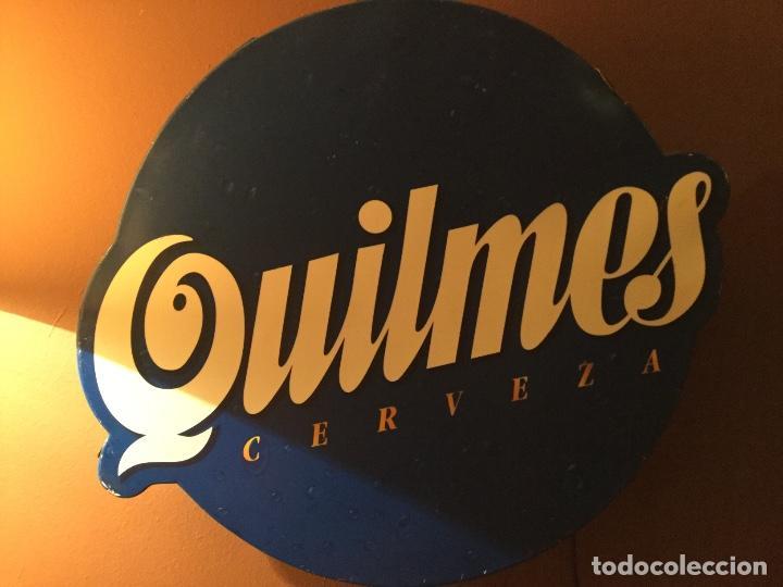 Coleccionismo de cervezas: Cartel luminoso años 80 publicidad cerveza Argentina QUILMES - Foto 3 - 111710247