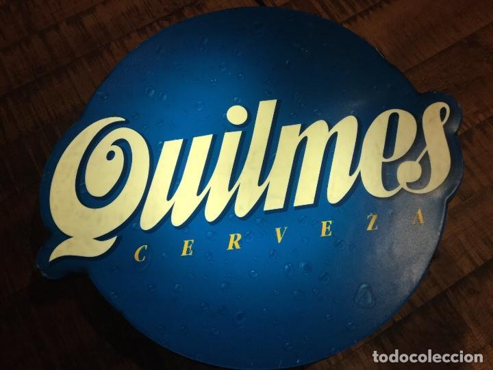 Coleccionismo de cervezas: Cartel luminoso años 80 publicidad cerveza Argentina QUILMES - Foto 11 - 111710247