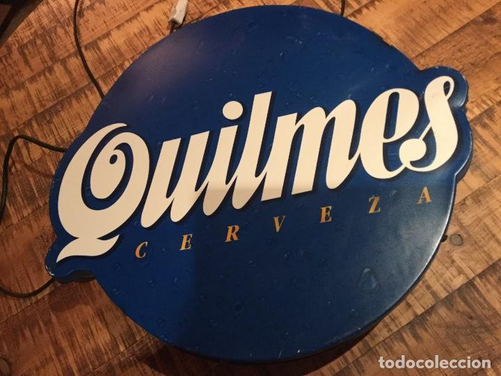 Coleccionismo de cervezas: Cartel luminoso años 80 publicidad cerveza Argentina QUILMES - Foto 12 - 111710247