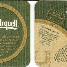 Coleccionismo de cervezas: POSAVASOS DE LA REPÚBLICA CHECA - CERVEZA PILSNER URQUELL. Lote 207234510
