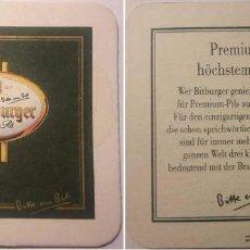 Coleccionismo de cervezas: POSAVASOS DE CERVEZA BITBURGER. Lote 112032975