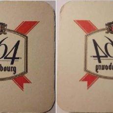 Coleccionismo de cervezas: POSAVASOS CERVEZA KRONENBOURG, 1664. Lote 112203683