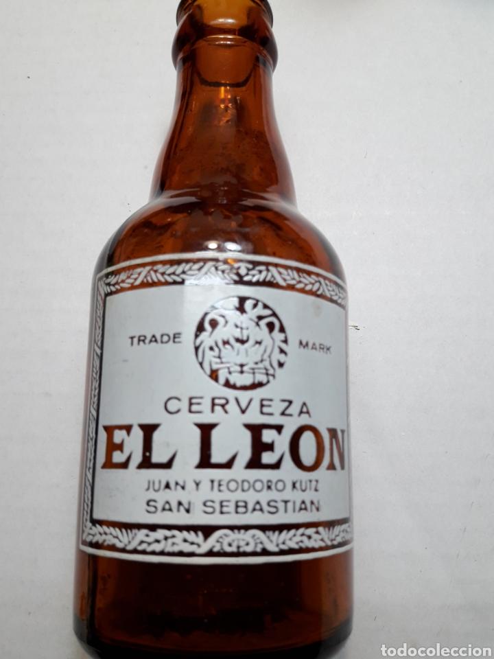 BOTELLA ANTIGUA CERVEZA EL LEÓN 20CL (Coleccionismo - Botellas y Bebidas - Cerveza )