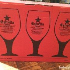 Coleccionismo de cervezas: COPAS CAJA DE 6 ESTRELLA DAMM CERVEZA TARRAGONA 2018. Lote 149226169