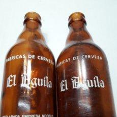 Coleccionismo de cervezas: BOTELLAS ANTIGUAS CERVEZA EL ÁGUILA 33CL. Lote 113012127